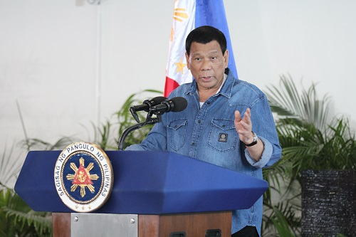 资料图:菲律宾总统杜特尔特。新华社记者袁梦晨摄
