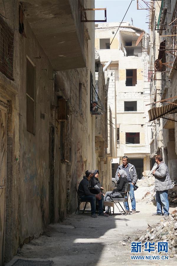 """(国际·图文互动)(1)通讯:叙利亚危机爆发8周年:废墟中""""疗伤""""的东古塔"""
