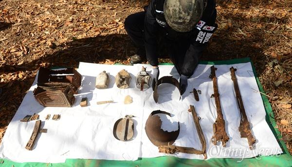 韩国这处志愿军浴血之地 发掘2000多件军人遗物