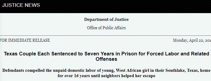 非洲少女在美国沦为奴隶,16年人生被毁...