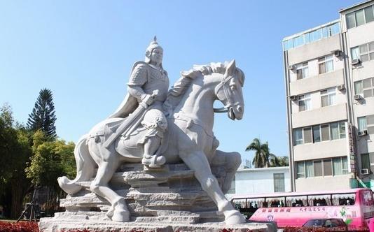 台南延平郡王祠郑成功雕像(图片来源:台媒)