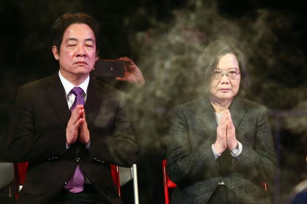 赖清德(左)蔡英文(右)(图片取自台媒)