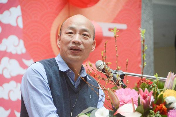 """高雄市长韩国瑜。(图片来源:台湾""""中时电子报"""")"""