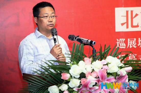 2 中国美术家协会理论研究处处长  冯令刚在开幕式上致辞。.jpg
