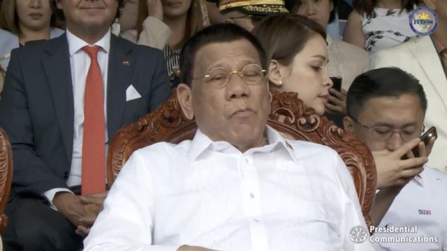 杜特尔特参加活动昏昏欲睡 总统府:他是夜猫子