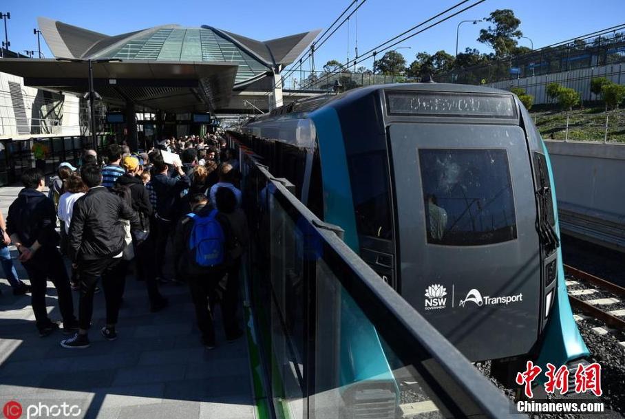 澳大利亚开通首列无人驾驶地铁