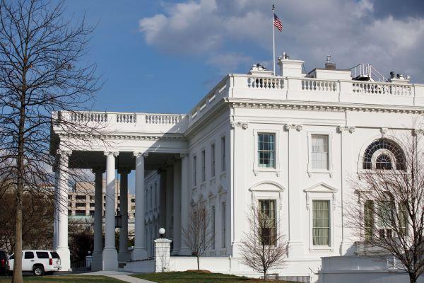 美国华盛顿拍摄的白宫外景