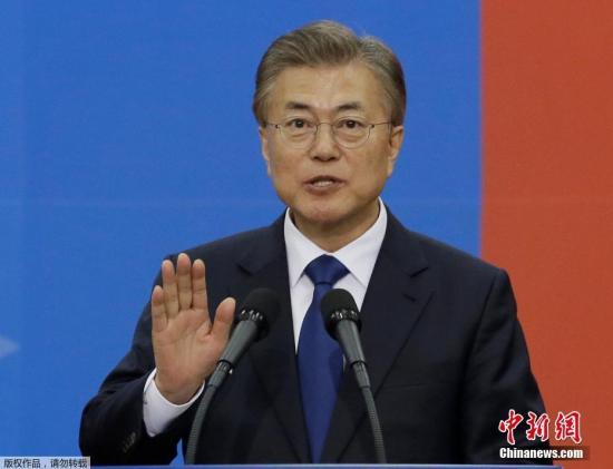 材料图片:韩国总统文寅。