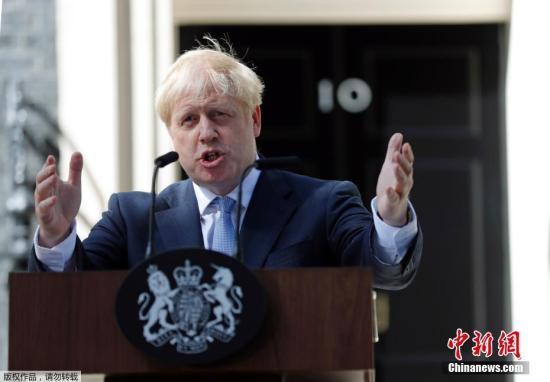 资料图:英国首相约翰逊。