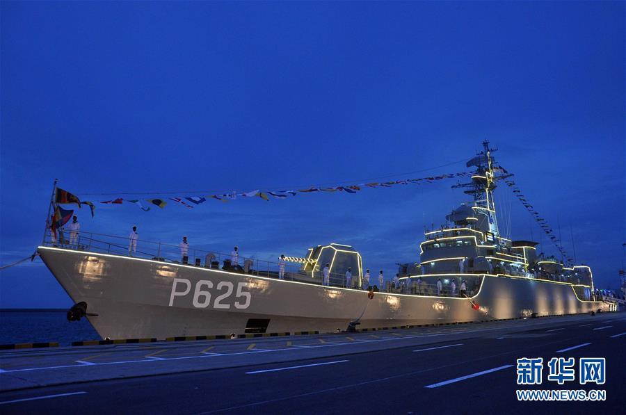(国际)(1)中国援赠的一艘护卫舰入列斯里兰卡海军