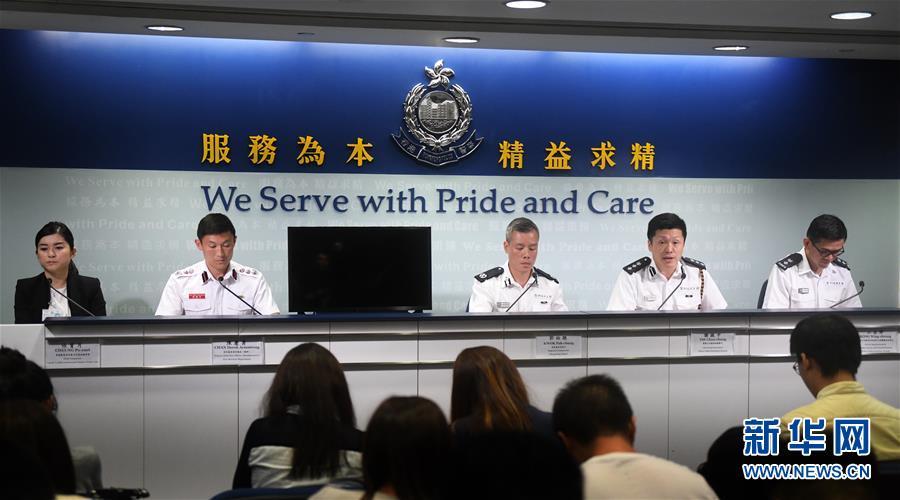 香港警方:正调查取证近期违法暴力事件,对违法分子追究到底