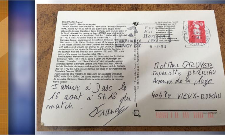 迟来的家书!法国一张明信片花26年寄达目的地