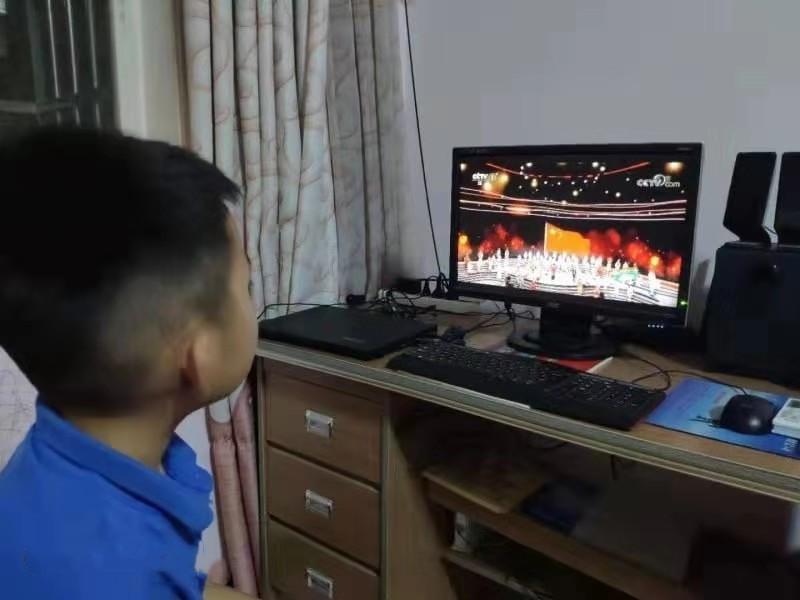 河南平舆:爱国主义教育从《开学第一课》做起