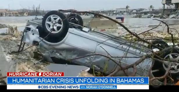 飓风多里安已致巴哈马7人死亡 建筑物被粉碎
