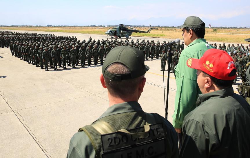 马杜罗发布橙色警报 委内瑞拉军队静待战斗通知