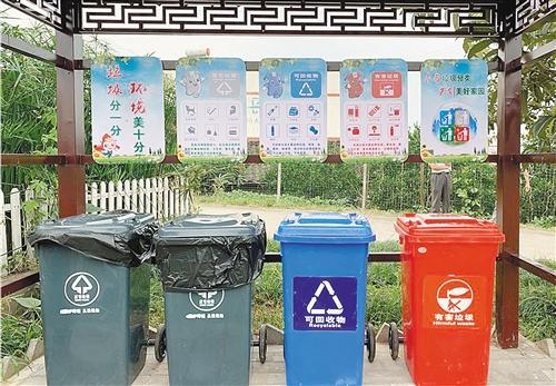 四川省眉山市丹棱县龙鹄村的分类垃圾箱。 本报记者 曾诗阳摄.jpg