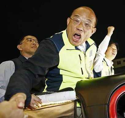 """苏贞昌称蔡当局是""""最好的政府"""" 网友讽:只会说""""干话""""的政""""腐"""""""