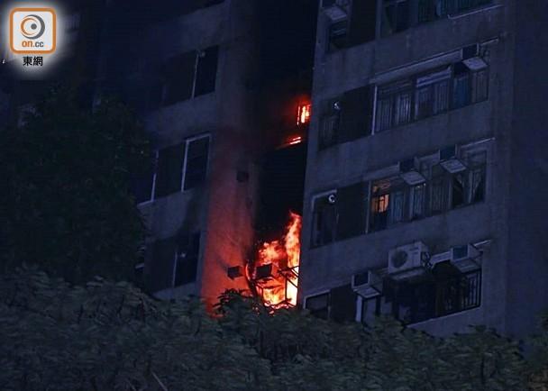 香港大围一住宅突发火灾致1死2伤 逾600住户被紧急疏散