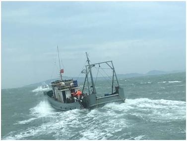 """大陆渔船(图片来源:台湾""""中时电子报"""")"""
