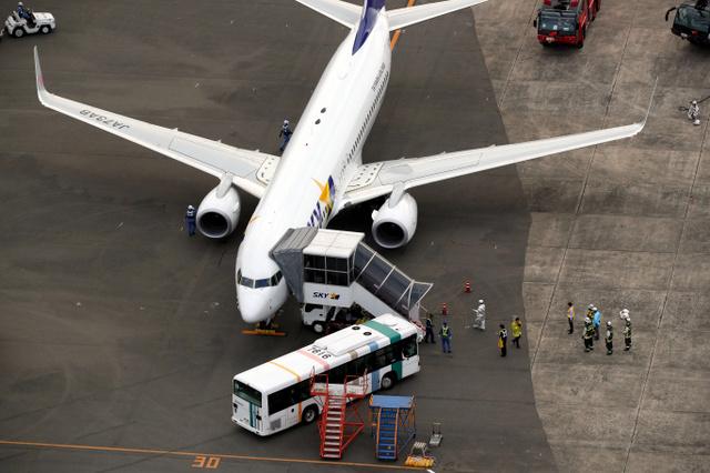 天马航空一架飞机因引擎故障紧急备降福冈机场