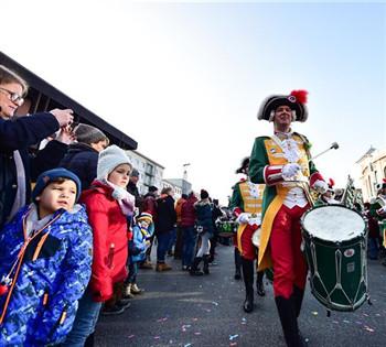 德国美因茨举行新年游行活动