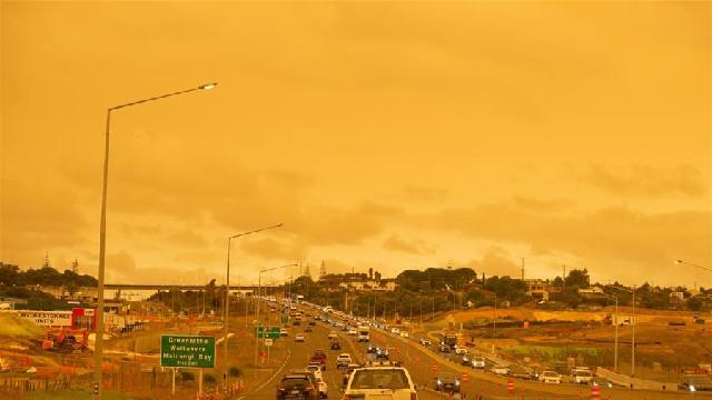 山火煙塵籠罩新西蘭