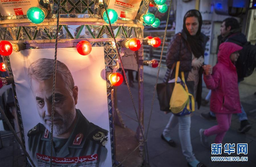 德黑兰悼念高级将领苏莱曼尼
