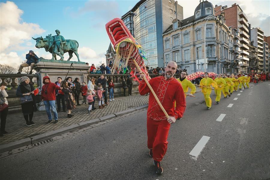 """比利时举办""""欢乐春节""""农历新年庆祝活动"""