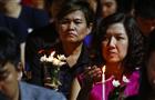泰民众悼念枪击案遇难者