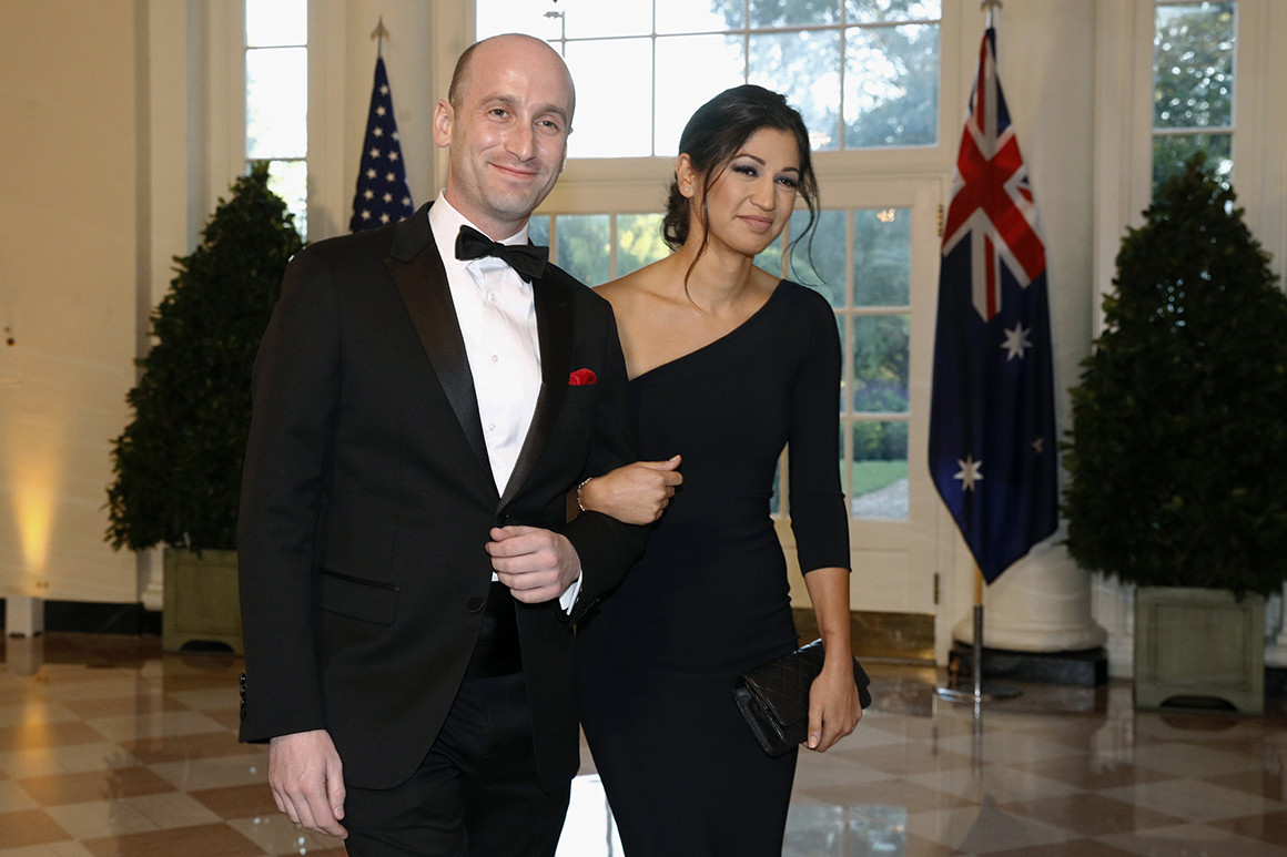 白宫高级顾问与美副总统发言人办婚礼 特朗普现身捧场