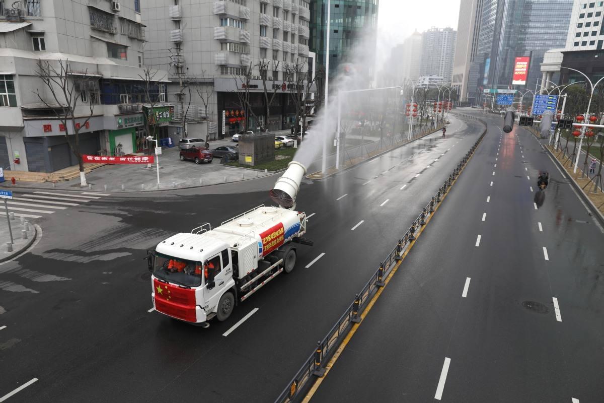 武汉投近2000吨消毒剂为排污设施