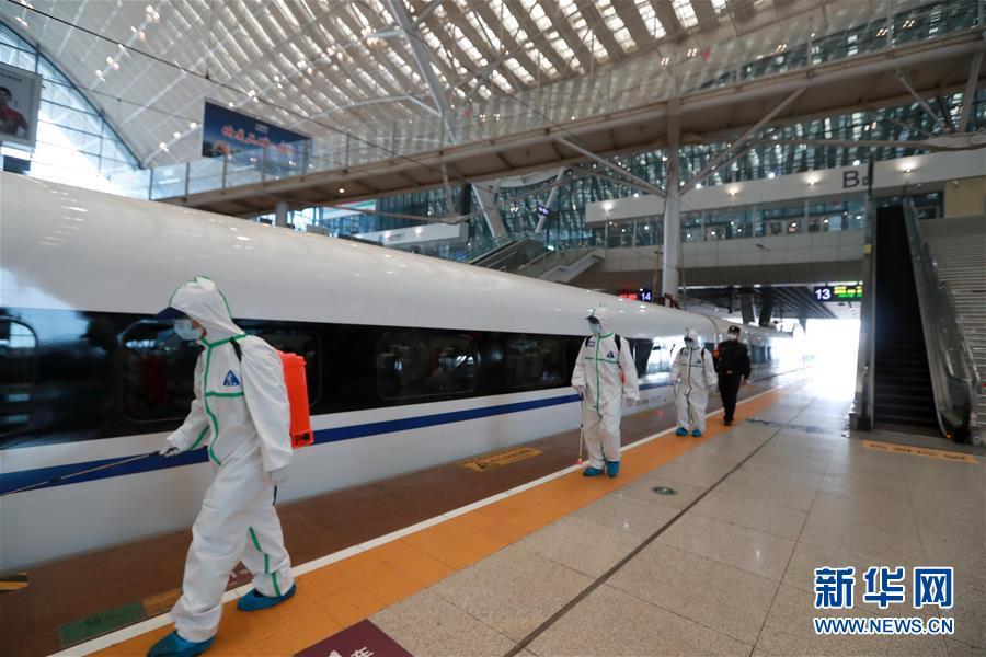 武汉火车站全面消杀