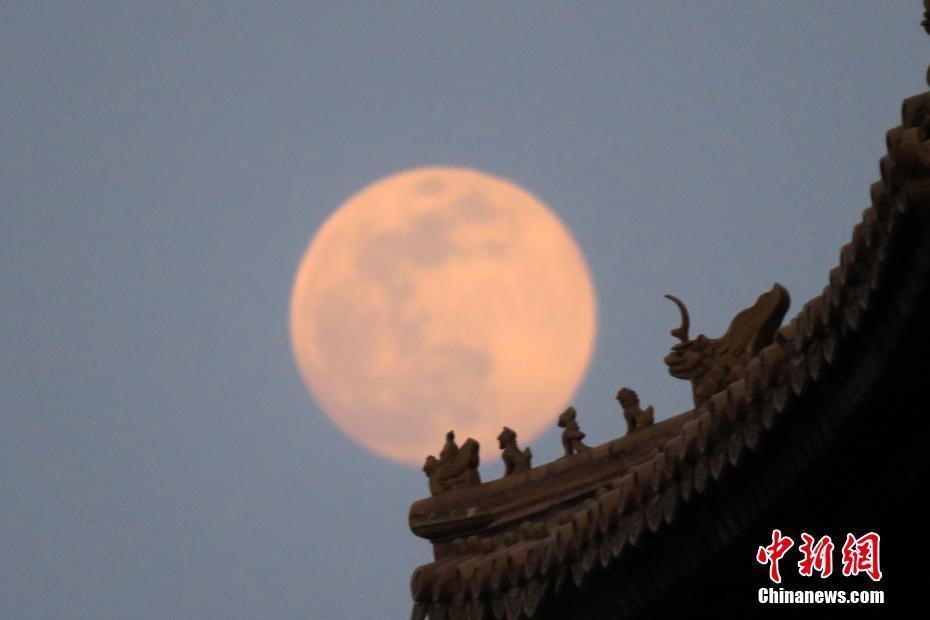 世界多国上演超级月亮