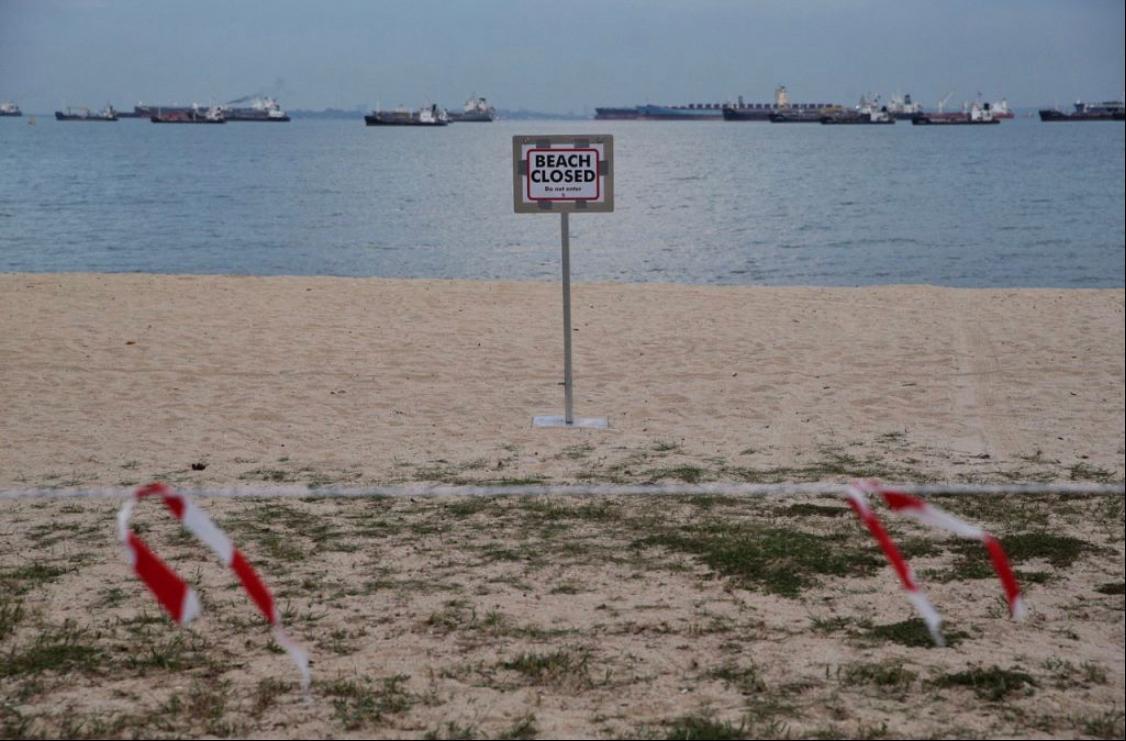 新加坡关闭海滩 违反防疫措施首次罚款300新元