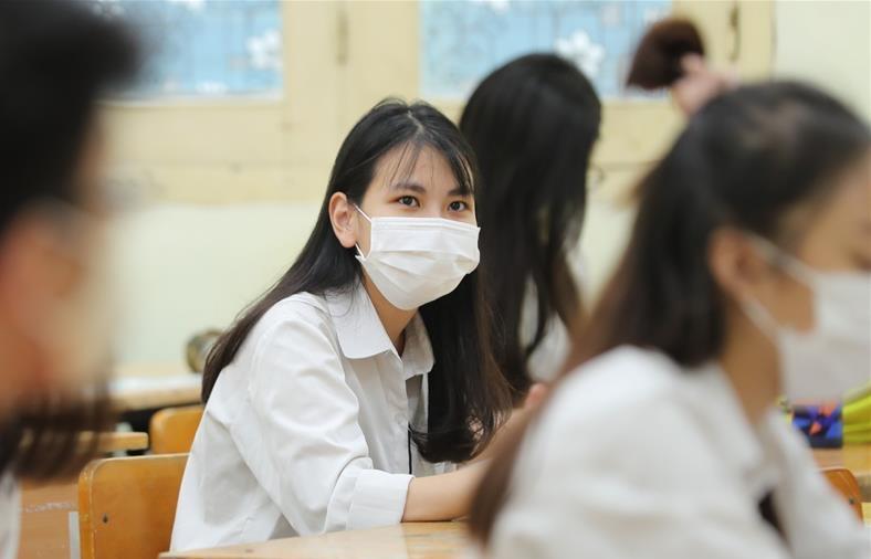 越南河内学生返校上课