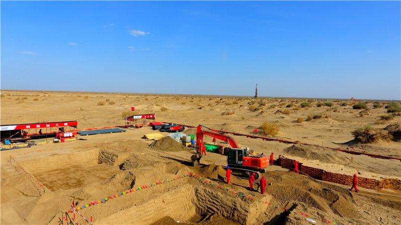塔河油田110kV输变电建设及系统优化工程紧张施工