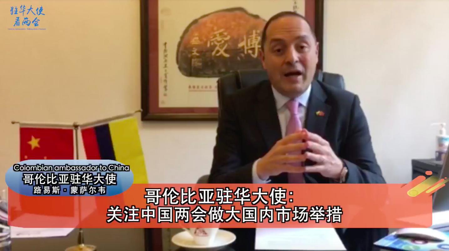 """【驻华大使看两会】""""首次参加中国两会,最关心经济议题"""""""