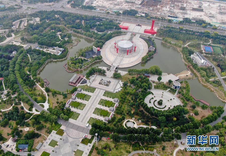 河南商丘日月湖景区:灌溉补源 生态观光
