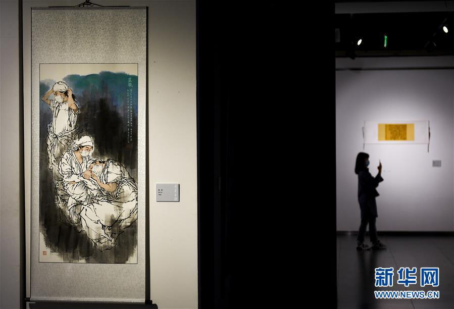 吉林省举行抗疫主题美术·摄影作品展