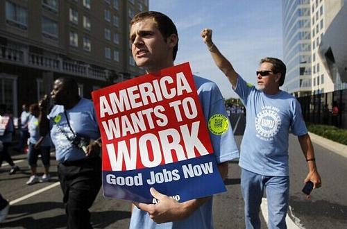 美国就业市场复苏步履蹒跚