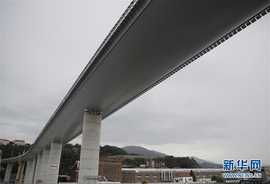 意大利热那亚启用垮塌后重建的大桥