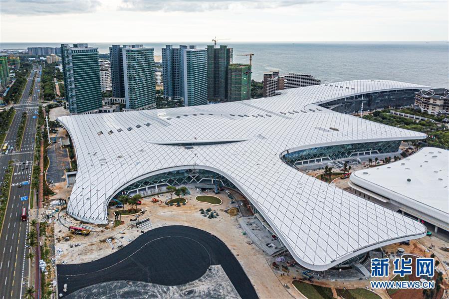 海南国际会展中心二期项目主体工程完工