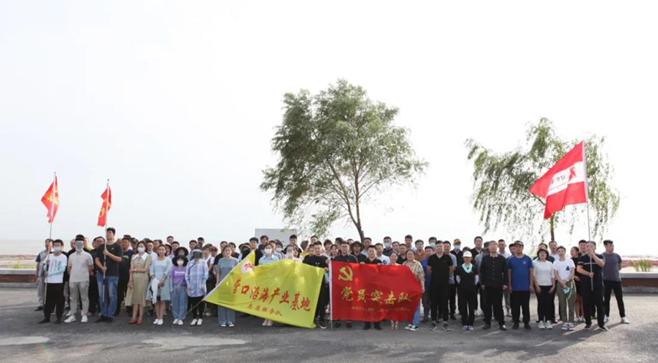 营口有礼日 营口沿海产业基地组织清洁海岸线志愿活动