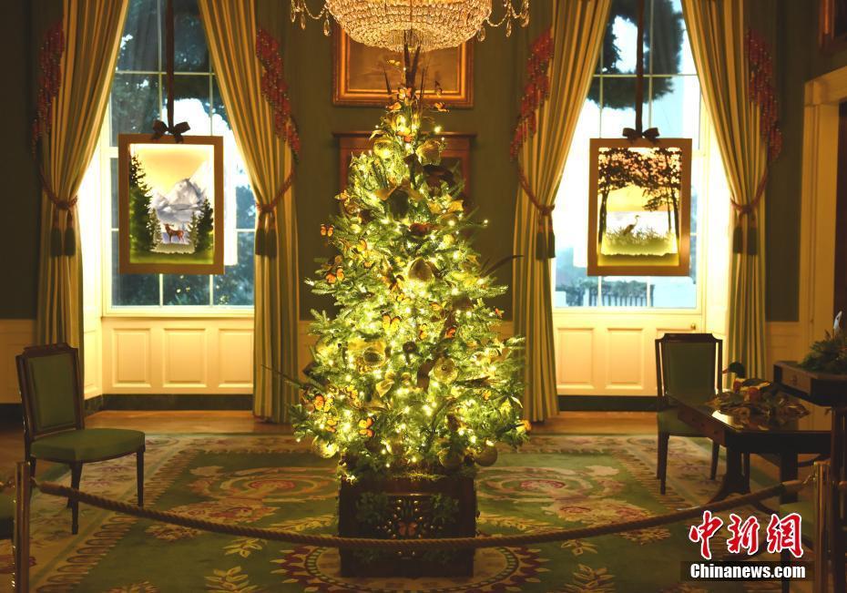 美国白宫2020年圣诞装饰亮相
