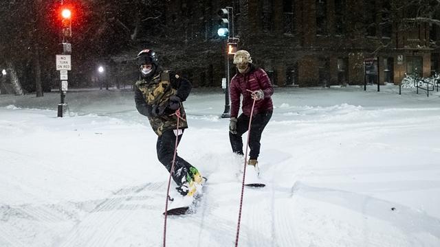 美国明尼苏达州迎来大雪