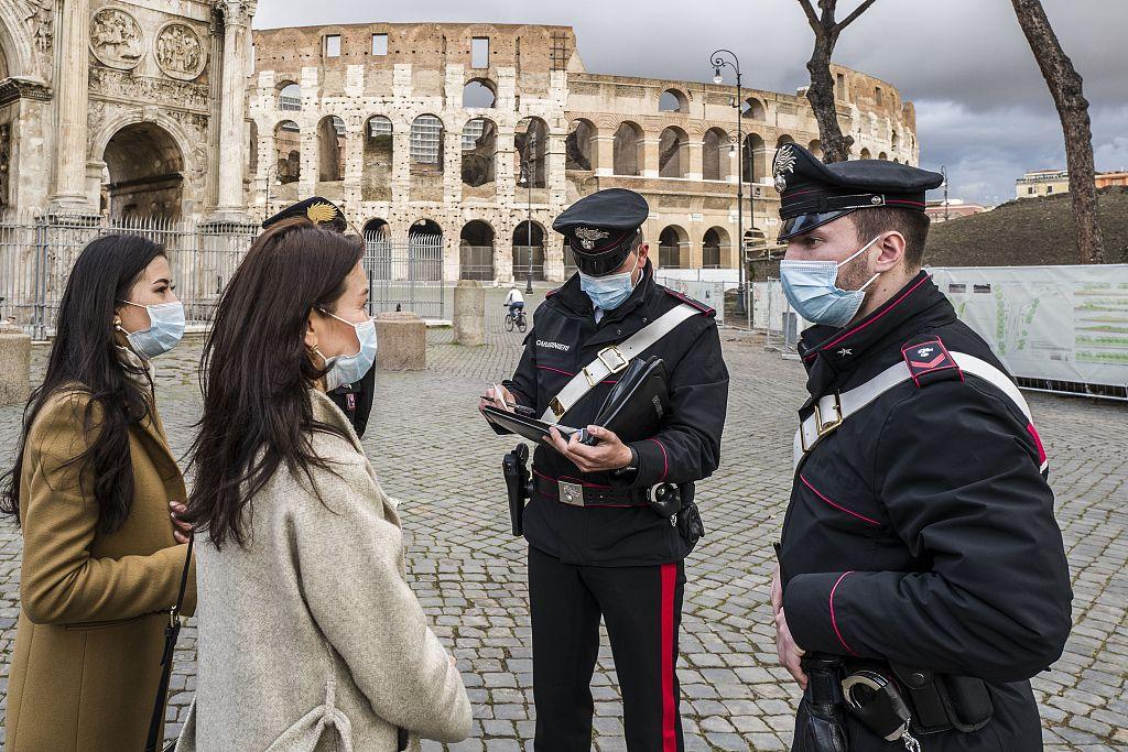"""意大利进入节假日严格疫情管控时期 全国实施""""红区""""管控措施至27日"""