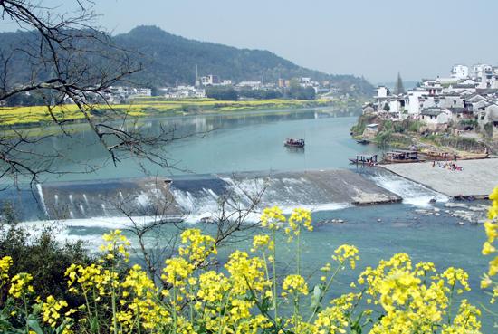 """被称为""""江南第一都江堰""""的渔梁坝"""