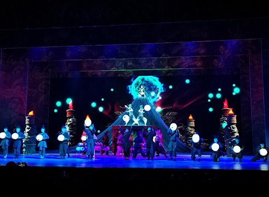 雜技劇《醒獅傳奇》滄州舉行首輪演出