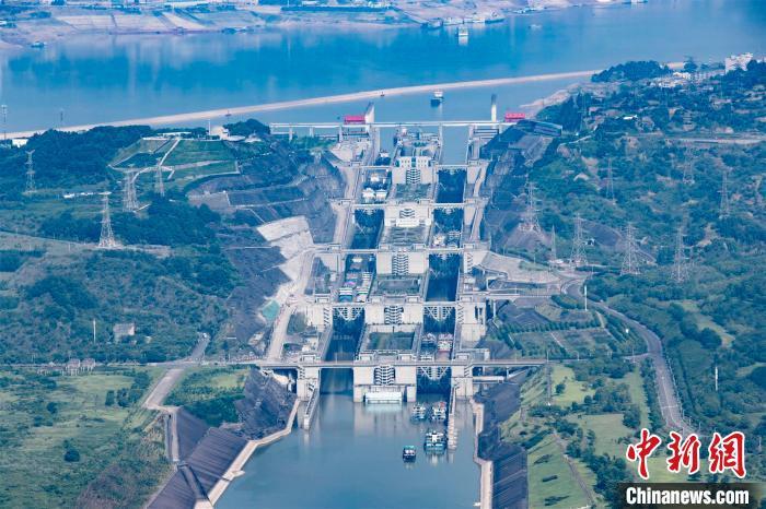 三峡双线五级船闸持续保持安全高效运行(资料图) 林海 摄
