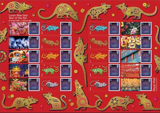 """加拿大等世界各国邮政共庆中国农历鼠年新年 纷纷发行""""鼠票""""482.png"""